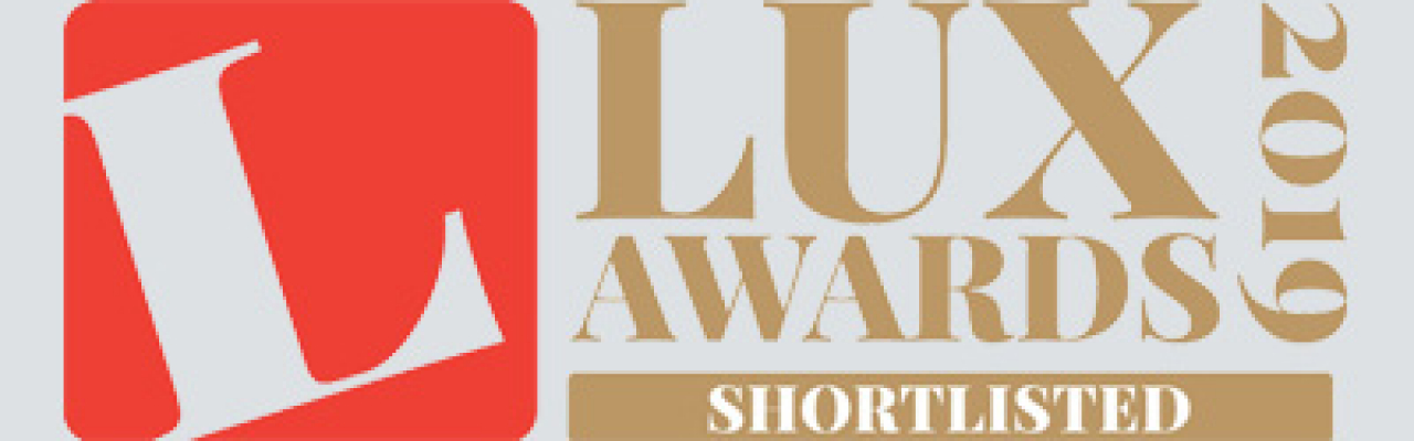 Full width banner Shortlisted for Lux Awards 2019 3320x1000px
