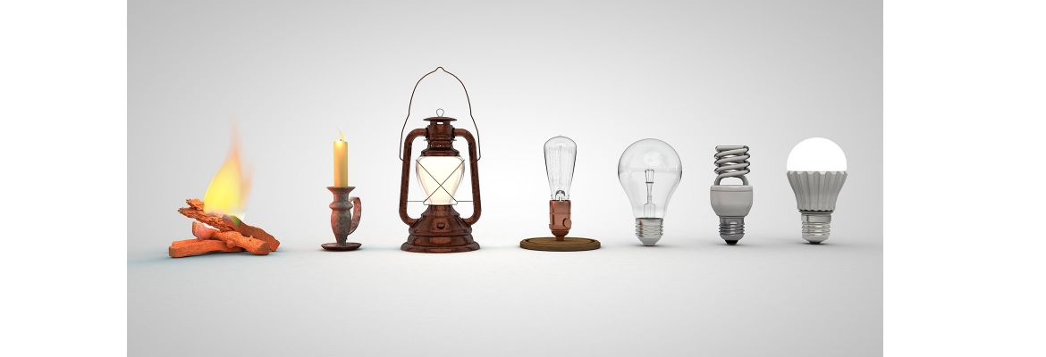 Content banner image History of light 2340x800px