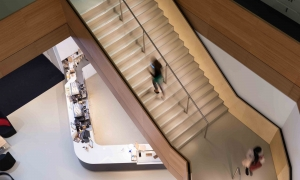 LED handrail system illuminates staircase inside BskyB headquarters