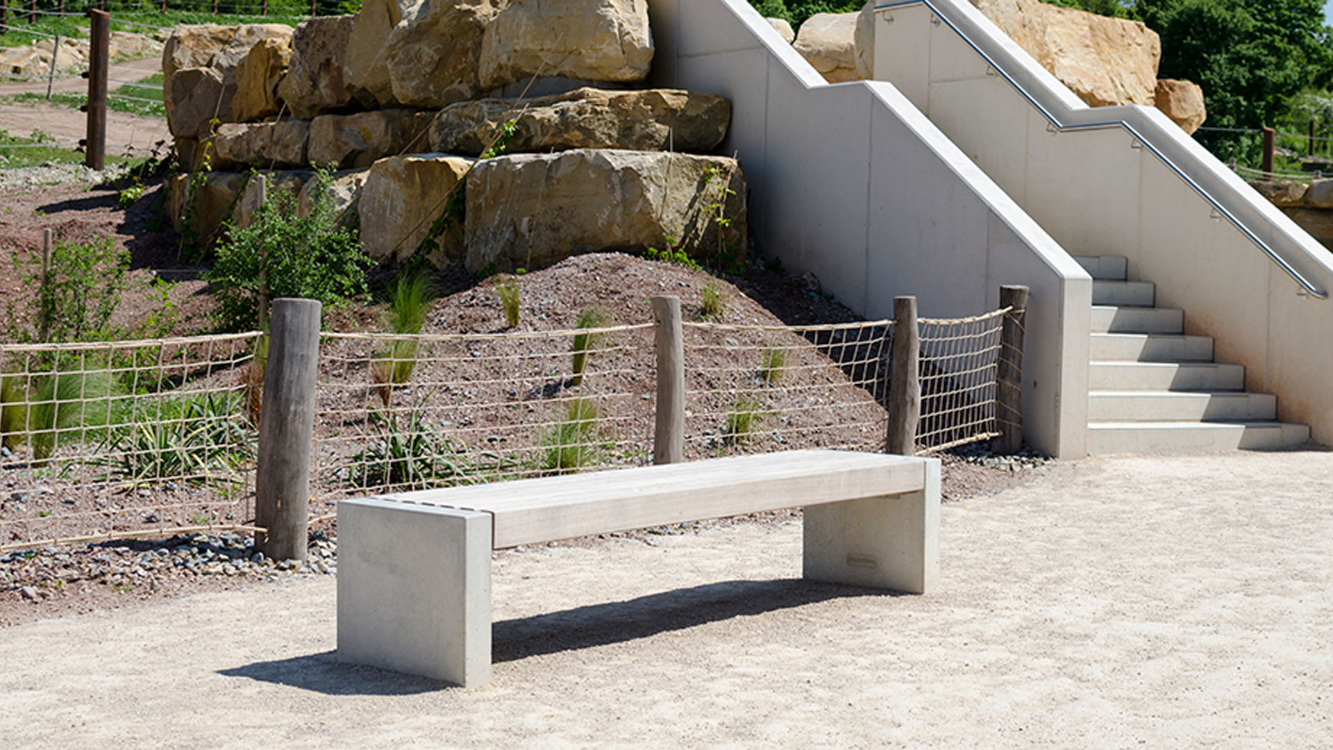 Weila Concrete Bench Seating Location image 1920x1080px