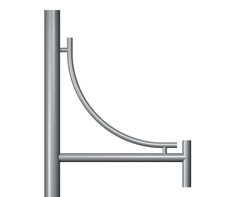 Inverted Genus Top Entry Column bracket Product image 2000x1572px