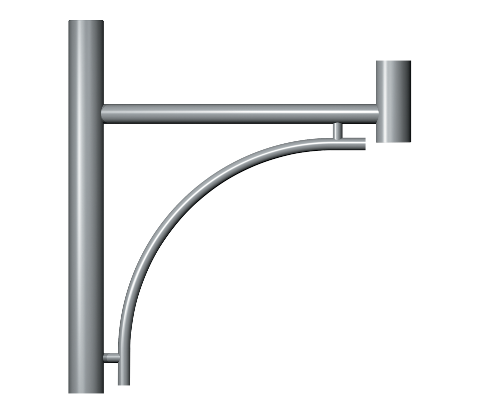 Genus Post Top Entry Column bracket Product image 2000x1572px