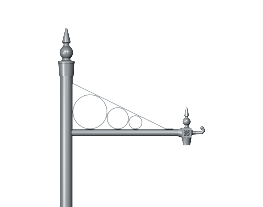 Inverted Hoop Traditional Column bracket Product image 2000x1572px Alt1