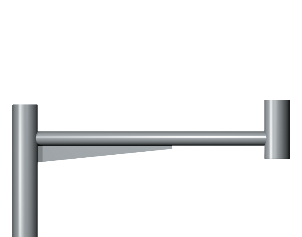 Linear Post Top Entry Column bracket Product image 2000x1572px